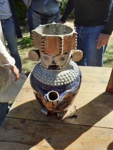 l'urne précolombienne réalisée par Joëlle